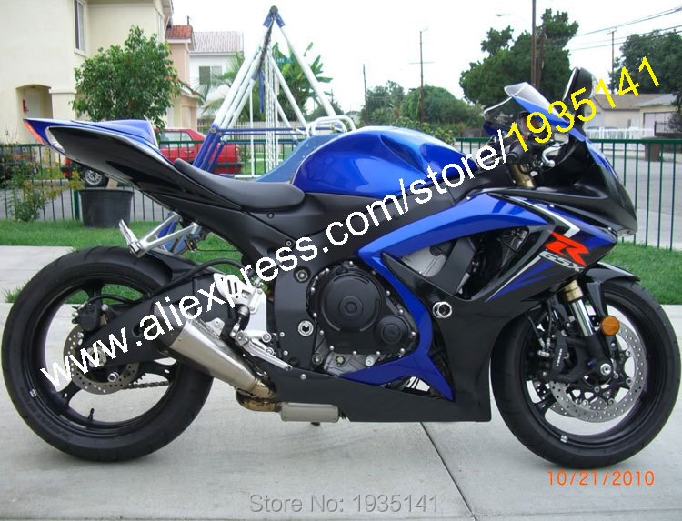 hot sales for suzuki gsx r 600 750 k6 2006 2007 gsxr 600 750 06 07 blue black aftermarket. Black Bedroom Furniture Sets. Home Design Ideas