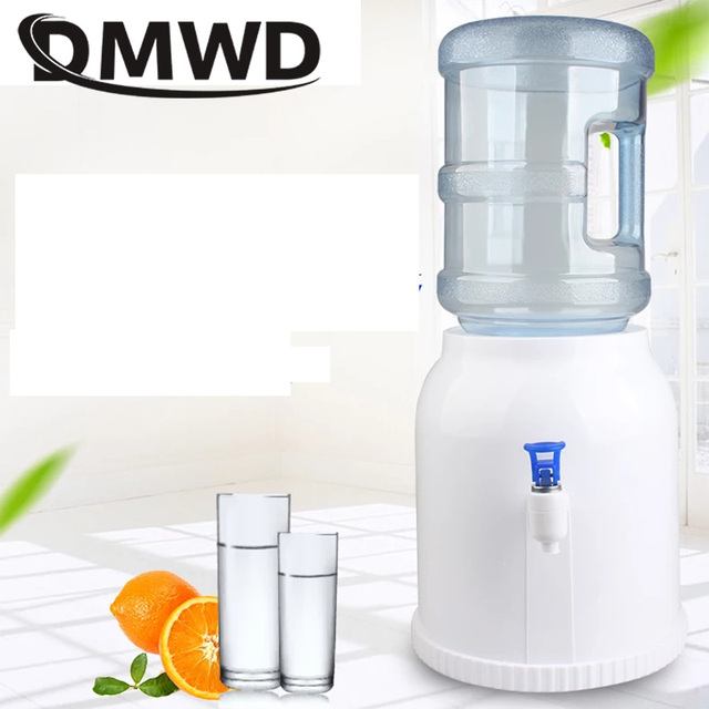 Mini Desktop Water Fountains Buckets Office Home Holder Dispenser Base Barrel Pump Watering Drinking