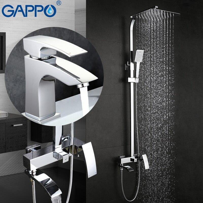 GAPPO Rubinetti Doccia vasca da bagno rubinetto miscelatori vasca da bagno miscelatore del bacino del rubinetto in ottone doccia a pioggia set doccia sistema