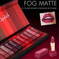 New 12 color lipstick set ladies sexy lipstick matte lipstick lasting color lip makeup explosion sale 2019 new lipstick hot sale