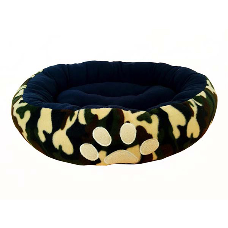 Dog Beds Soft Luxury Nest House 2019 Paw Print Pet Sofas Puppy Bed Cat Mats Kennel Supplies ATB-190