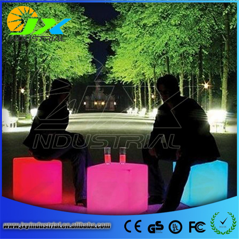 Fashion Modern outdoor waterproof 50CM GLOWING rechargeable luminous cube led bar chair barstools remote control led cube table jxy led cube chair 40cm 40cm 40cm colorful rgb light led cube chair jxy lc400 to outdoor or indoor as garden seat