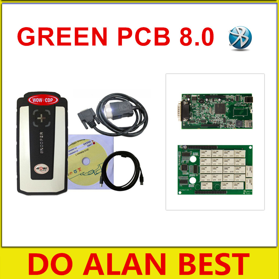 Цена за 2017 зеленый pcb WOW CDP SNOOPER с новым внешним видом 2014 r3/2015 r3 серийник с bluetooth