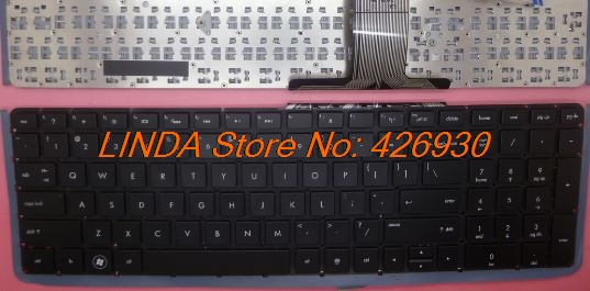 Laptop Keyboard For HP For envy 17-3001xx  17-3090nr  17t-3000 17-3070nr 17-3077nr 17-3095ca black without frame