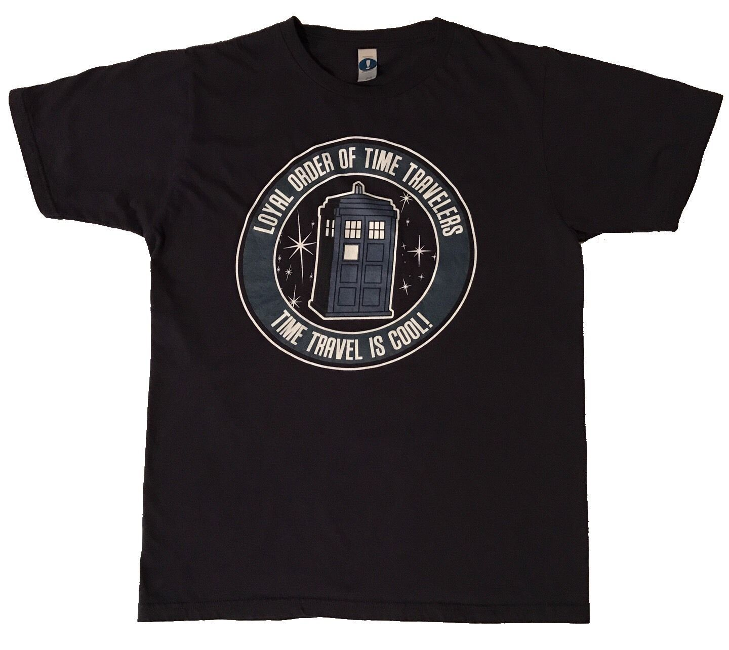Animal shirt.woot! DOCTOR WHO LOYAL ORDER OF TIME TRAVELERS IS COOL BLUE T-SHIRT MEDIUM