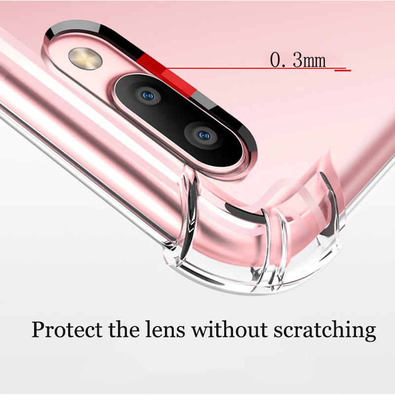 Suntaiho Phone Case For iPhone 7 8 Plus Transparent Anti-knock Cases For iPhone X 8 7 6 6S Plus Soft TPU Silicone Back Cover