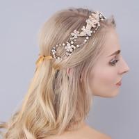 Shinny Crystal Bridal Wedding Head Piece Bride Headwear Headband Hair Band 100% Handmade Women Party Jewelry Accessories O937