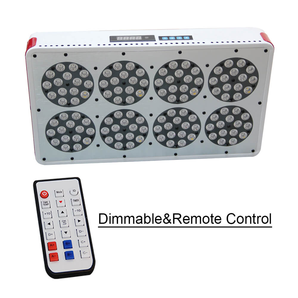 Full Spectrum Grow Light Apollo 8 Dimmable Remote Control With 120x3W High Efficiency Grow LED Factory Supply Spectrum Customize