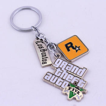 Game Xbox PS4 GTA 5 Grand Theft Auto Keychain Wallet-chain   4.5cm