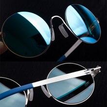 Stainless No Screw Vintage Round Sunglasses Women Outdoor Su