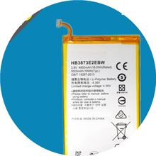 New 4850/5000mAh HB3873E2EBW HB3873E2EBC Battery Huawei Honor X1 7D-503L 7D-501U original touch screen digitizer for huawei mediapad x1 7 0 honor x1 7d 501u touch panel glass white