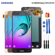 AMOLED LCD For SAMSUNG Galaxy J5 2016 LCD Display J510 J510F J510FN J510M Touch Screen Digitizer For Samsung J5 2016 J510 LCD смартфон samsung galaxy j5 2016 sm j510fn white