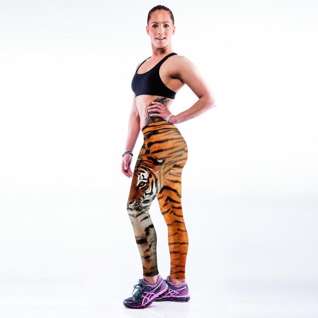 Street dance 3D тигр печати брюки средний талия леггинсы тренировки талия леггинсы sexy lady но лифт леггинсы