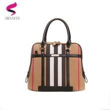 06d0a35b9aae 2018 canvas leather luxury handbags women bags designer fashion women s  handbag shoulder bags stripe lady big tote bag sac femme