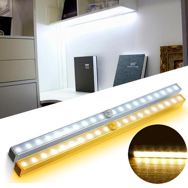 20 Led Wireless Pir Motion Sensor Battery Power Cabinet Drawer Light