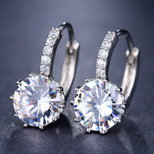 где купить Beiver Fashion 10 Colors AAA CZ Element Clip Earrings For Women Wholesale Chea Factory Price Free Shipping по лучшей цене