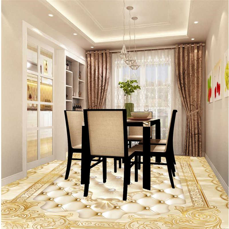 Beibehang Golden Rose Photo Wallpaper Mural Floor Custom Photo