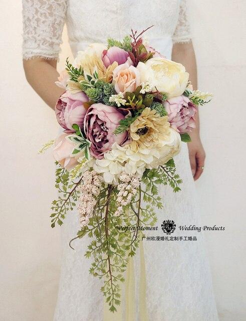 Wedding Bridesmaid Bouquet Ramo De Flores Novia Bouquet De Mariage Brooch Bouquet Artificial Bridal Flowers 2017