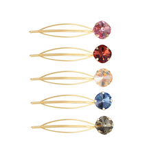 CHIMERA INS Fashion Hair Pins 2pcs/set Bling Rhinestone Duckbill Hollowed-out Metal Clip Bangs Clamp Geometric Accessories