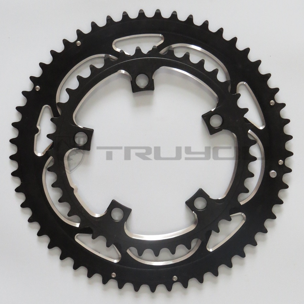 Chainwheel BCD110 56T 53T 52T 50T 48T 46T 44T 39T 38T 36T 34T Chainring Road Bicycle Folding Bike Chain rings CNC for Dual Disc звезда системы для велосипедов neasty bb30 170 172 5 175mm bcd110 39 53t ck nt01 t