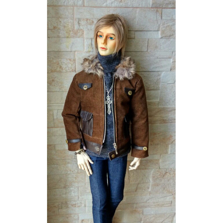 BJD Dark Brown Coat Top Clothing For Male SD17 70cm Uncle Doll DK DZ AOD