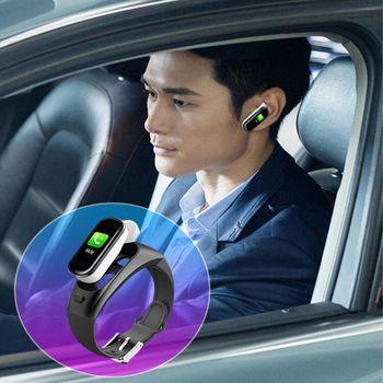 New Bluetooth Earphone AndTheBracelet Watch Sports Fitness Activity Heart Rate Tracker Blood Pressure Wristband IP67 Waterproof
