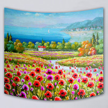 mmuju home Decor wall hanging blanket tapestry scenic beach throw towel printed supersoft tapestries high quality fabric