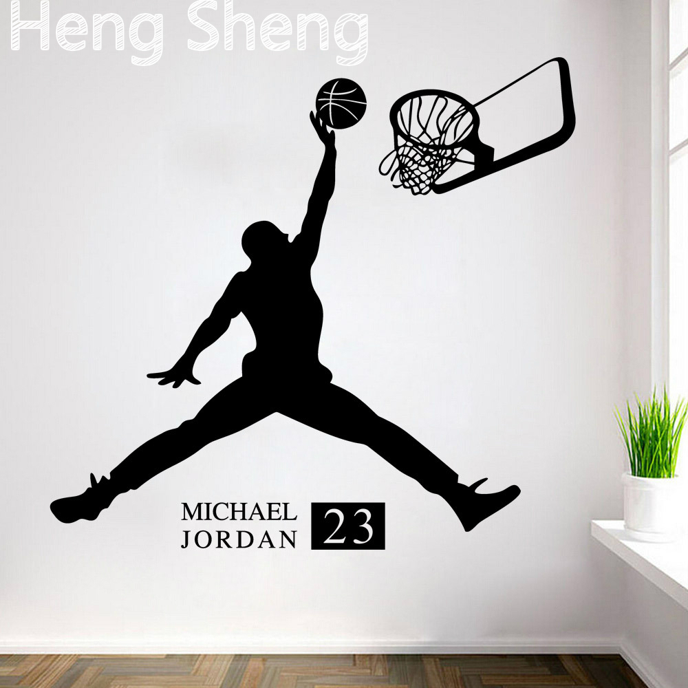 Buy sports poster basketball wall for Deco salle de bain stickers