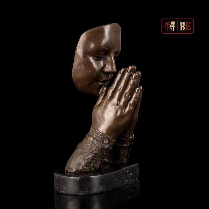 Wo copper copper sculpture art style faith Home Furnishing soft decoration decoration