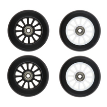 2 Pieces 100mm Complete Stunt Pro Scooter Wheels Replacement with Random Color Bearing Outdoor Speed Skating Equipment 2 pieces lot 88a 100mm scooter wheels with bearings alloy steel wheel hub high elasticity and precision speed skating wheel a116