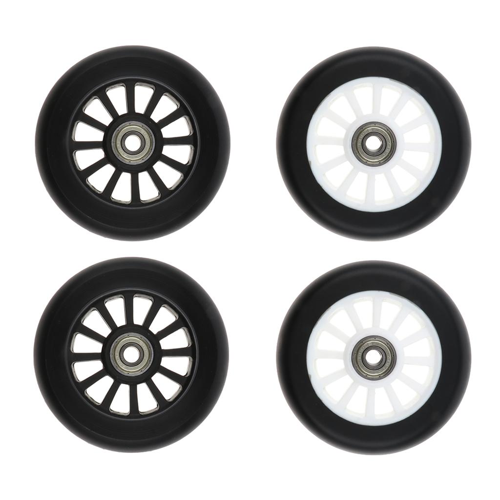 2 Pieces 100mm Complete Stunt Pro Scooter Wheels Replacement with Random Color Bearing Outdoor Speed Skating Equipment
