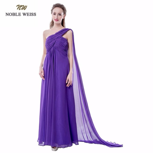 NOBLE WEISS Bridesmaid Dresses One Shoulder Pleat Mint Green Purple ...