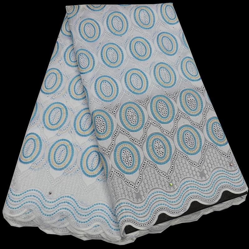 Бесплатная доставка (5 ярдов/шт) новое поступление вышитые Африканский хлопок кружевная ткань чистый цвет швейцарская вуаль кружева для пла...