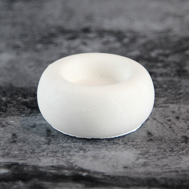 Silicone mold for concrete candle holder 3