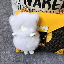 2017 Fashion Rex Rabbit Fur Sheepskin Car Key Chain Car Pendant Cartoon Cashmere Velvet Car Interior Pendant Bag A-002