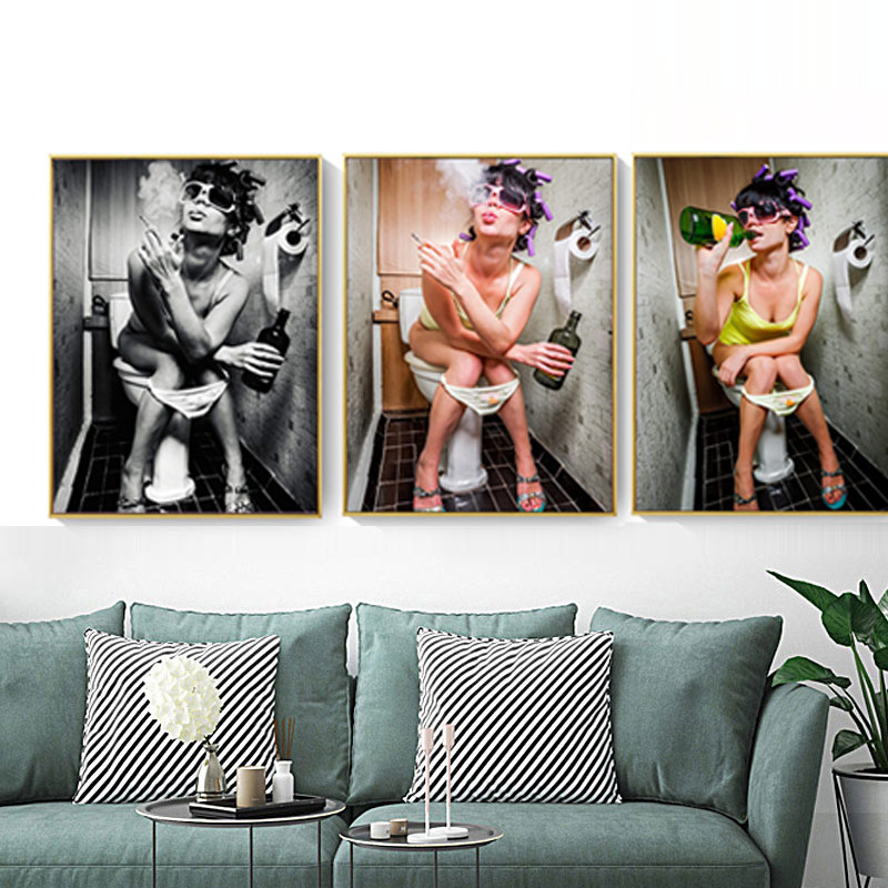 Image 4 - 3PCS/set Dropship Posters and Prints Love Abstract Cartoon Canvas Painting Nordic for Living Room Wall Art Picture Home Decor-in Painting & Calligraphy from Home & Garden