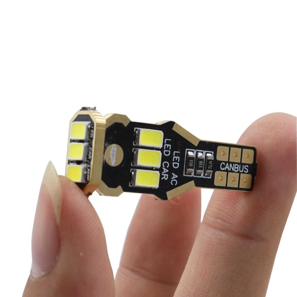 YSY 10 sztuk W16W żarówka led T15 LED 9SMD CANBUS 5630 biały ogon światła cofania 912 921 920 pojazdu lampka sygnalizacyjna auto car styling 12 V