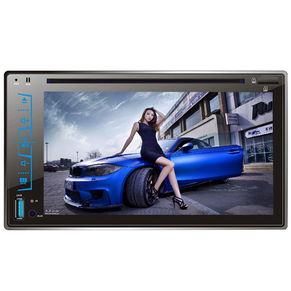 6.2 2 Din Car DVD Player Bluetooth Stereo Radio Multimedia Player CD MP3 FM AM USB SD AUX-IN Support Steering Wheel Control 2014 new 25 12v car radio cd dvd player cd player car mp3 radio player car cd player with usb sd car audio 1 din remove control