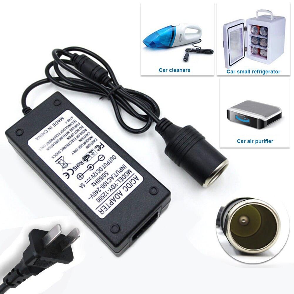 US EU Plug 220V à 12V adaptateur secteur Portable automobile allume-cigare sortie et protection contre la surchauffe convertisseur inverseur