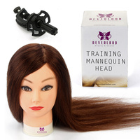US UK Stock 20 Hairdressing Training Head 100 Real Hair Styling Salon Practice Head Mannequin Doll