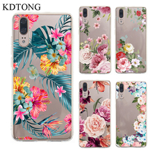 Phone Case sFor Cover Huawei P20 P30 Lite Pro Case Flower Transparent Soft TPU Silicone Cover For Huawei P30 P20 Pro Case Cover аксессуар чехол для huawei p20 pro ibox crystal silicone transparent