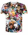 Рэппер тайлер творец принт tshirt странно будущее хип-хоп футболки женщины / мужчины короткий рукав tshirt