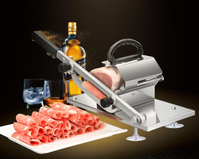 Manual Meat Grinder Beef and Mutton Meat Slicer Home Shabu Mutton Fat Beef Rolls Machine Hand Cut Mutton Machine semi automatic meat slicer commercial home electric mutton rolls meat grinder machine