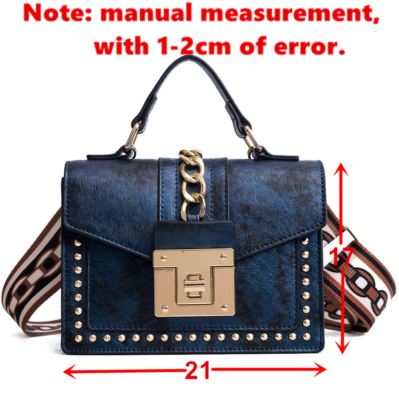 f2bd1086bbf1 Details about Women's Fashion PU Leather Girl Rivets Star Mini Bag High  Quality Wide Shoulder.