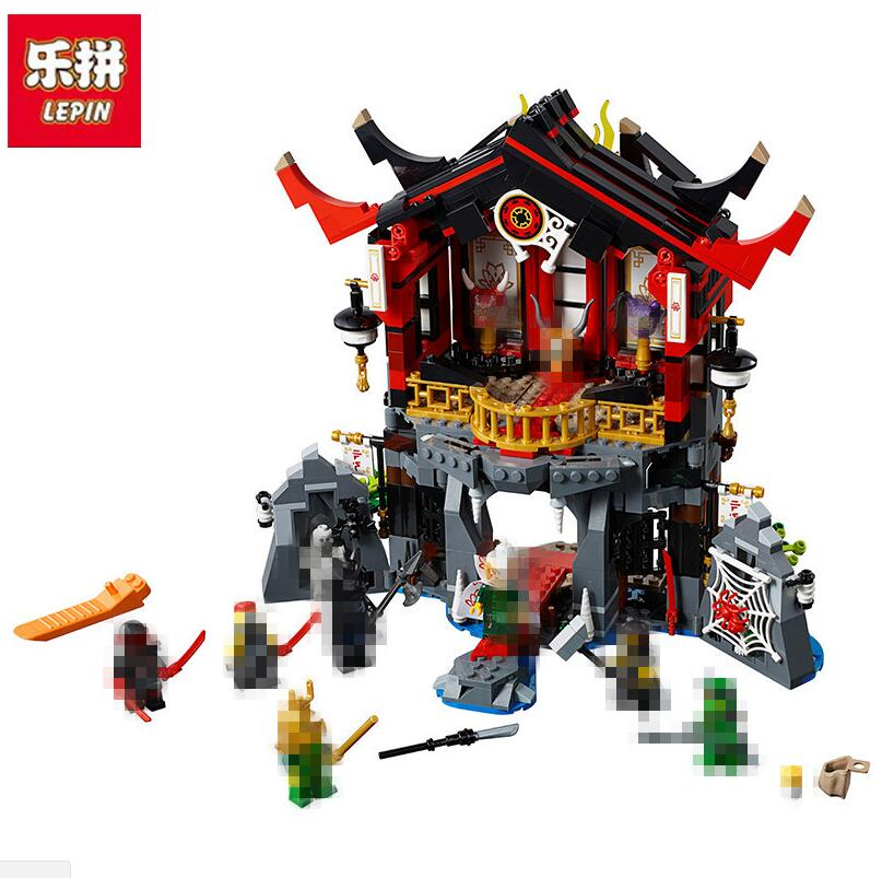 LEPIN 857pcs Ninja Temple of Resurrection 06078 Model Building Blocks Assemble Toys Bricks Movie Compatible With 70643 lepin 663pcs ninja killow vs samurai x mech oni chopper robots 06077 building blocks assemble toys bricks compatible with 70642