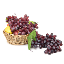 110 Head Artificial Fruit Grapes Plastic soft PU Fake real touch Fruit Lifelike Home Wedding Party Garden Decor Simulation Fruit