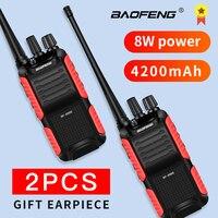 2pcs baofeng bf 888s 2pcs BF-999 שניות פלוס 999 שניות מכשיר הקשר Baofeng 8W / 5W 4200mAh מטען USB Long Distance שני ניידת רדיו דרך שדרג BF-888s CB (1)