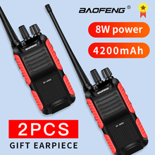 2PCS BF-999S Plus 999S Walkie Talkie Baofeng 8W /5W 4200mAh USB charger Long Distance Portable Two Way Radio Upgrade BF-888s cb