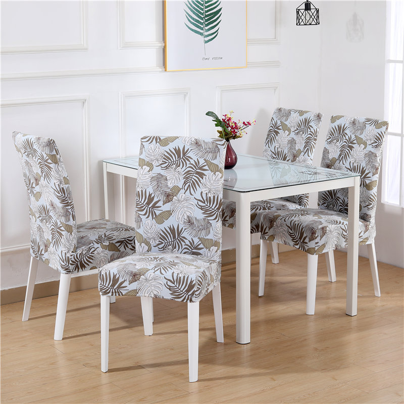 1 to 6 Pcs Dining Chair Cover with Elastic made of Polyester and Spandex Material 3