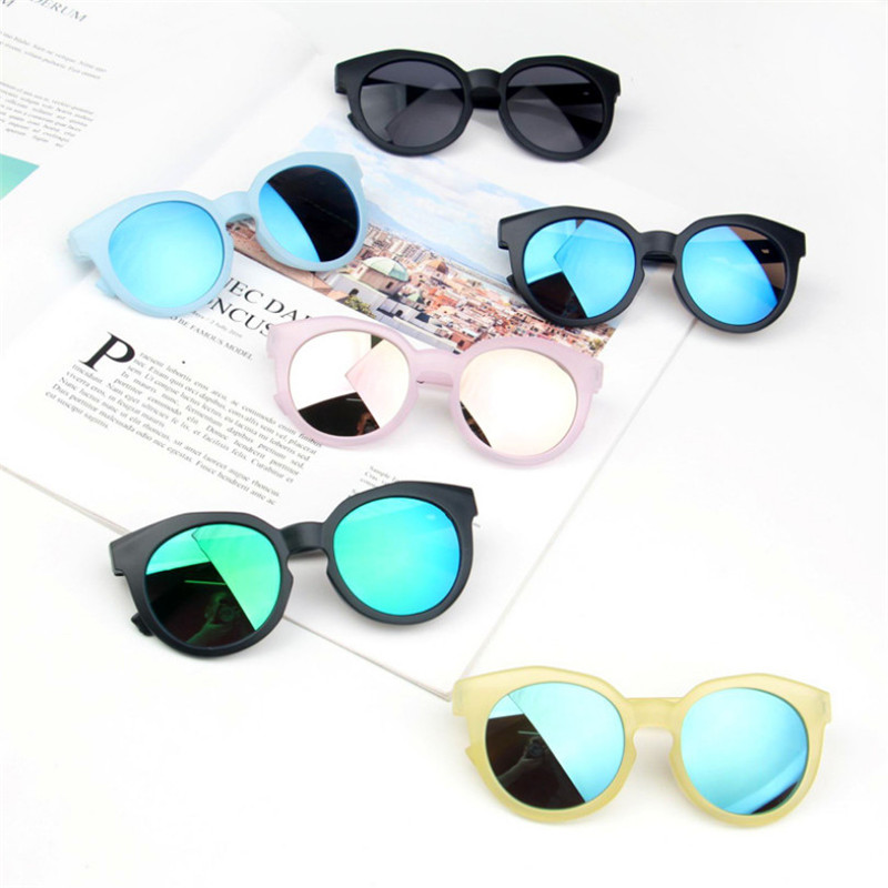 2019 Fashion Reflective Children Kids Girls Glasses Frame Boys UV400 Sunglasses Cute Eyewear Toys Accessories Shades Goggles